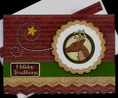 Reindeer Holiday Traditions Card