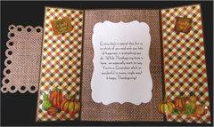 Wheelbarrow Gate Fold Thanksgiving Card Inside