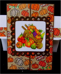 Wheelbarrow Gate Fold Thanksgiving Card