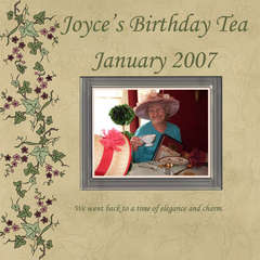 Aunt Joyce's Tea Party