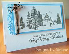 Christmas Gliter Winter Scene Card