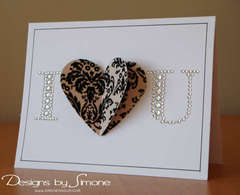Damask Velvet Heart Card