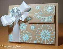 Embossed Snowflake Wishes Card