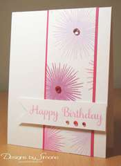 Pink Birthday Starburst Card