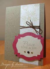 Snowflake Peace & Love Card