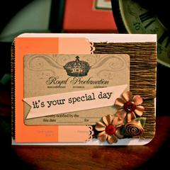 Card 1 - November Card Challenge Colors