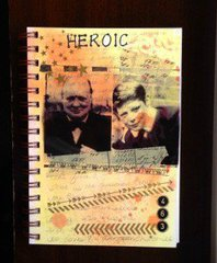 Winston Churchill Heroic art journal page