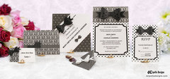 Bow Tie Wedding Stationary Set