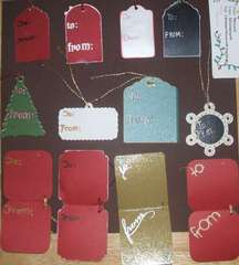 Christmas Gift Tags (page 2 of 2) backs SEE FRONTS THEY ARE NICE!