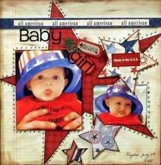 all american baby girl..