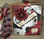 Wedding-Black/white/red paper bag album
