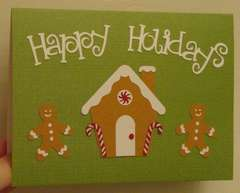 Gingerbread happy holidays