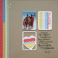 at the beach | Scrapbook Trends Mar '14