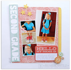 second grade<br>[Scrapbook Trends Mar '13]
