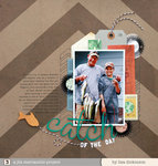 catch of the day | Scrapbook Trends Feb '14
