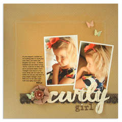 curly girl<br>{Scrapbook Trends June 2011}