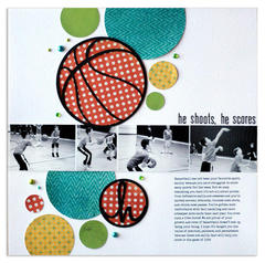 he shoots, he scores <br>[Scrapbook Trends Sept '12]
