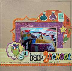 Back 2 School  ***Scrapbook Daisies Sept Kit***