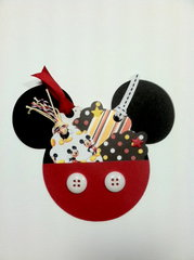 Mickey Mouse Icon Pouch with Mini Tags