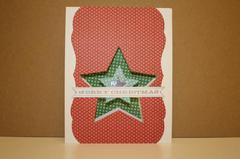 Merry Christmas Star Cut-out card