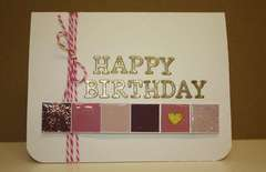 Happy Birthday glossy tiles card