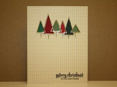 Silver lined die cut trees...