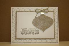 Glitter Ornament Card