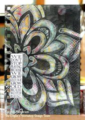 Art Journal with Zen Flower by TCW DT Member  Karen Liz Henderson