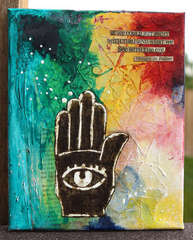 Henna Hands Canvas by Ronda Palazzari