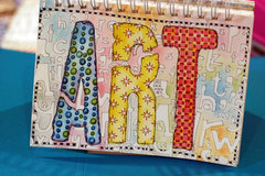 Stencil Doodling Art Journal Cover by TCW DT Member Lydell Quin