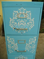 Drab to Fab Filing Cabinet by April Holland