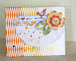 Easy stencil ideas for cards by Sanna Lippert
