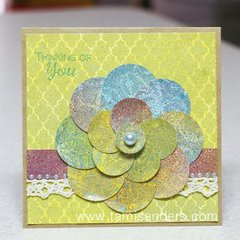 Circles Flower Card by Tami Sanders