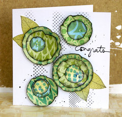 DIY flower card by Sanna Lippert