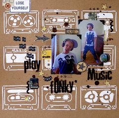 Funky music – layout by Sanna Lippert