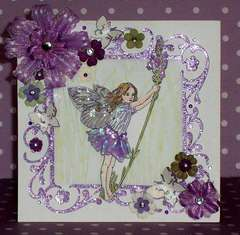 Lavendar Flower Fairy Birthday