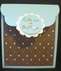 Cute as a Button Baby Shower Invite