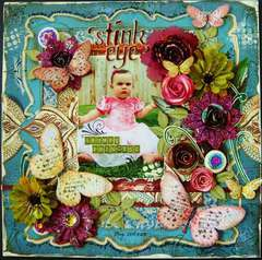 'Stink Eye' Grumpy Princess - Scraps of Darkness July Marrakesh Express Kit