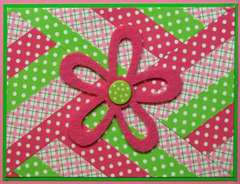 Pink Washi Tape Card
