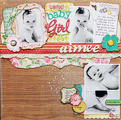 Darling Baby Girl*Crate Paper Emma's Shoppe*Nook March kit