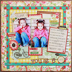 Hailey at 6*My Scrapbook Nook March kit