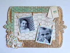 Chicken Wire Photo Frame Mixed Media Art