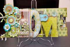 Clear Scraps Acrylic Word Book