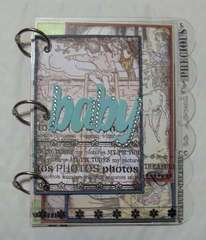 Baby Photos Acrylic Album by Clear Scraps DT Cathy S.