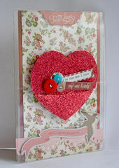 Clear Scraps Send It Clear Card by Pinky