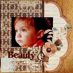 Beauty Acrylic Layout by Clear Scraps DT Tonya D