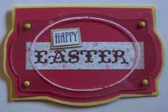 Clear Scraps acrylic Easter card