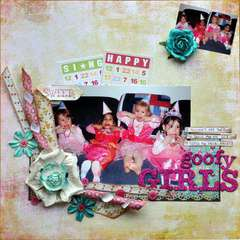 goofy girls - creative scrapper sketch 81