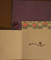 Happy Birthday (Cupcake)! Inside of Card & Envelope