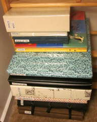 Finished Scrapbook Storage/Cleanup